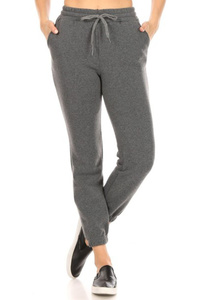 Womens Thick Fleece Lined Joggers Sweatpants