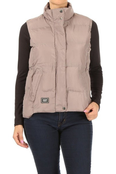 Womens Zip-Up Puffer Vests