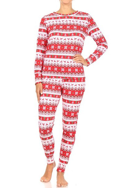 2-Piece Fleece Lined Pajamas Sets