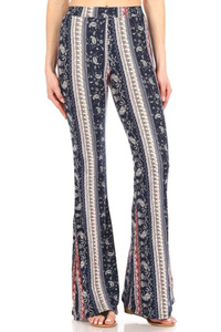 Soft Brushed Printed Flare Pants