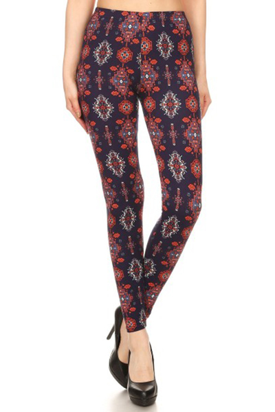 Poly Brushed Printed Leggings