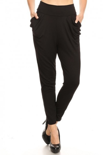 Soft Brushed High Waisted Semi Harem Pants