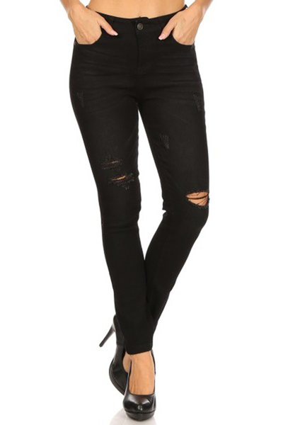 Distressed Skinny Denim Jeans