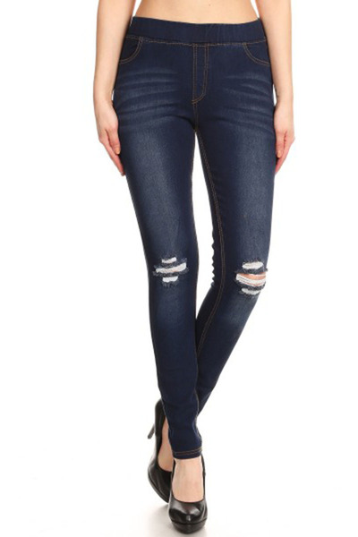 Distressed Skinny Denim Jeans Jeggings