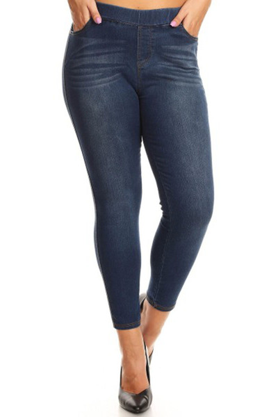 Womens Plus Size Skinny Denim Jeans Jeggings