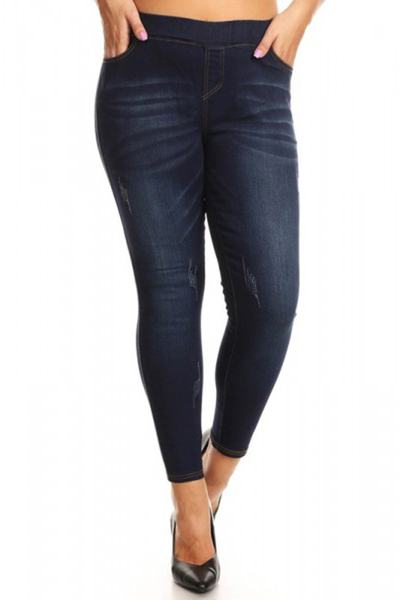 Plus Size Skinny Denim Jeans Jeggings