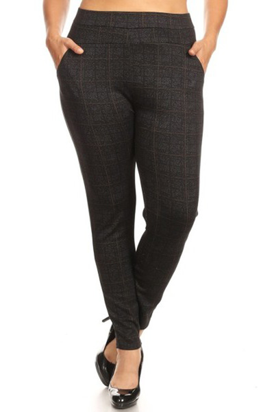 Plus Size Skinny Pants With Front Pockets
