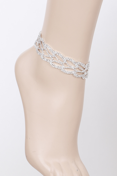 Party Rhinestone Anklet
