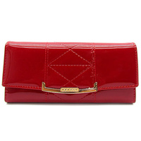 Patent Faux Leather Clutch Wallet