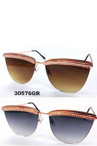 Rhinestone Detailed Stylish Sunglasses