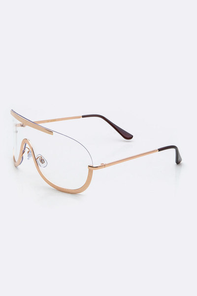 Clear Iconic Uni Lens Clear Glasses