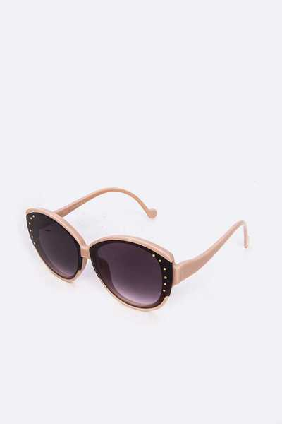 Dotted Oversize Cat Eye Sunglasses Set
