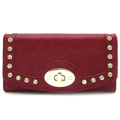 Studded Tri-Fold Wallet