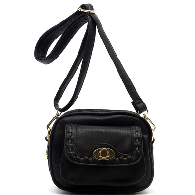 Twist Lock Pocket Cross Body Bag