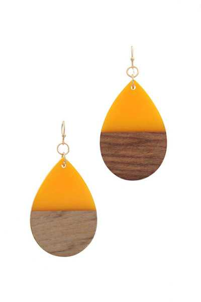 TEARDROP SHAPE DROP EARRING