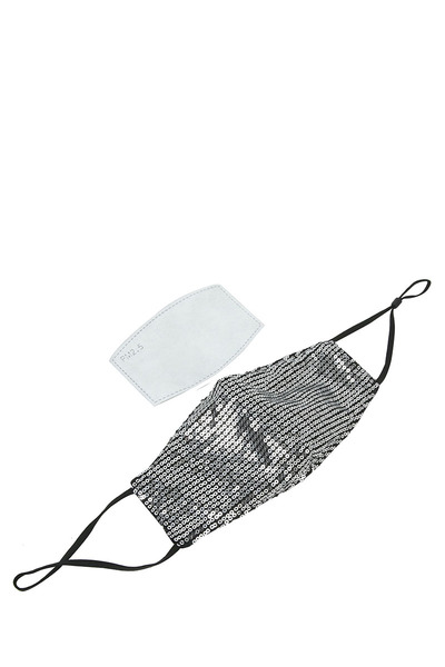 Sequin Cotton Mask with PM2.5 Filter