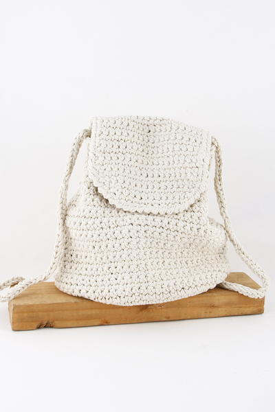 Braided Net Backpack