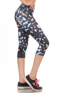 Printed Activewear Capris Leggings