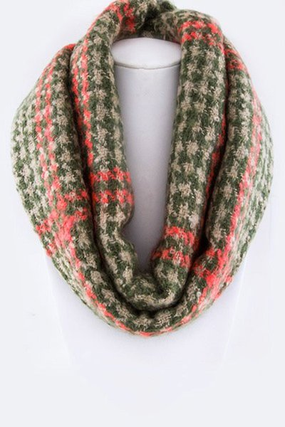 Checker Houndstooth Pattern Infinity Scarf