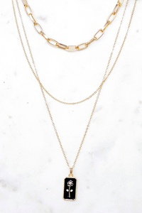 CHUNKY AND DELICATE CHAIN MIX NECKLACE